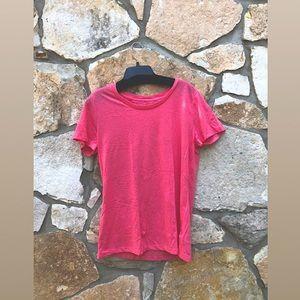 NWOT Bright Pink Short Sleeve Top